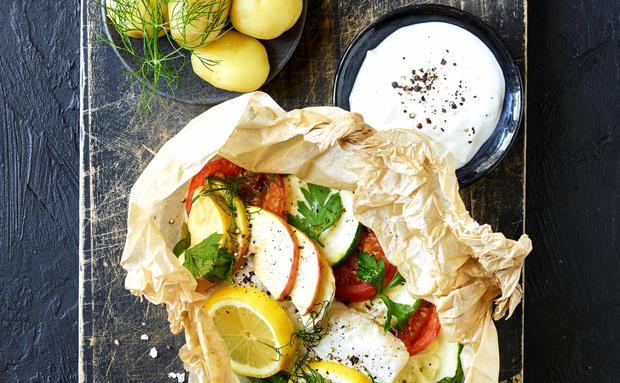 Rezept Aus Der Handvoll Diat Fisch Mit Gemuse Woman At