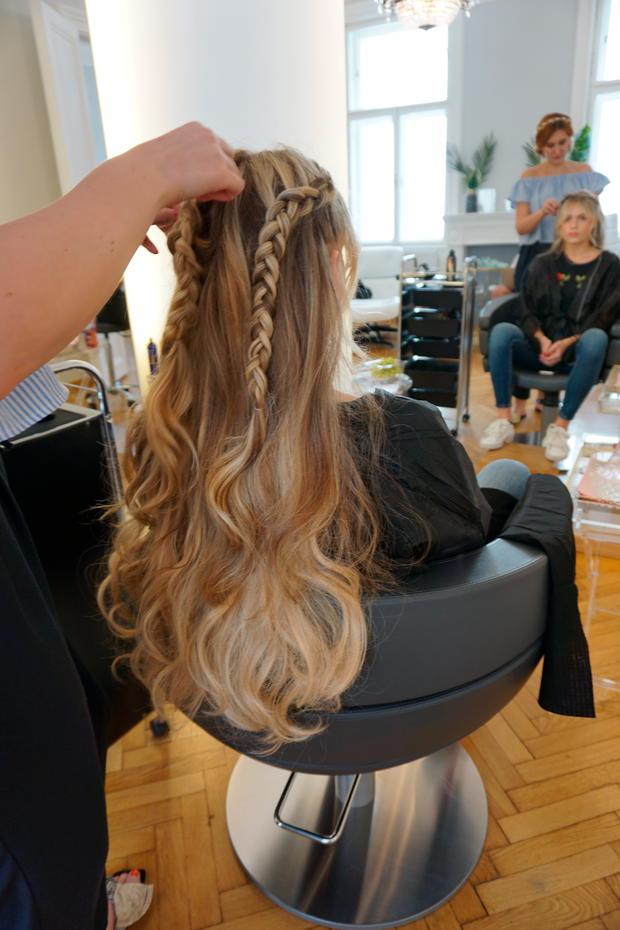 Frisur Offene Haare Stunning Einfache Frisur Geflochten Hoop Mit