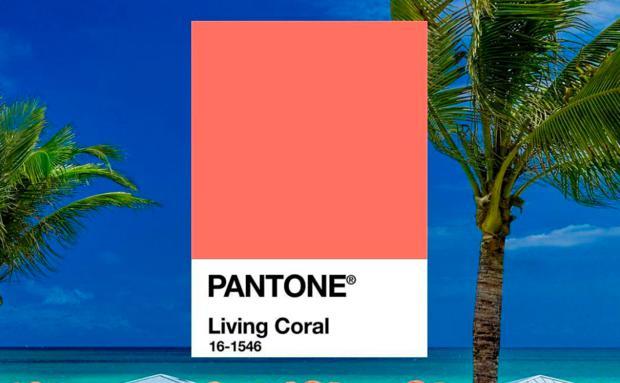 Pantone Farbe 2019 Living Coral Woman At