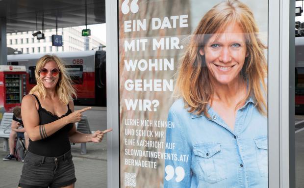 Wienerin sucht Traummann über Plakat