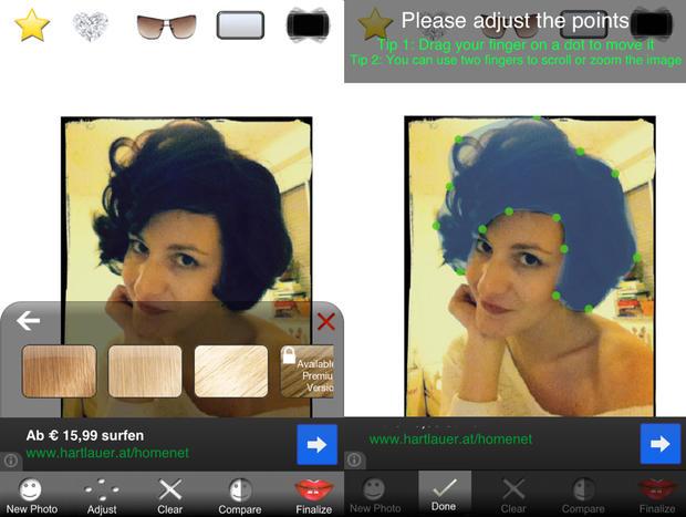 Haarfarbe test foto app