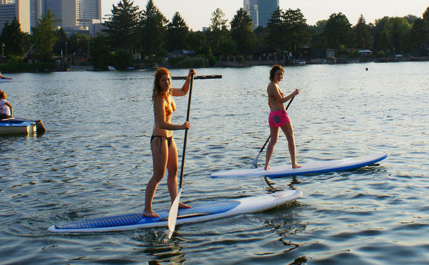 Im Test: Stand Up Paddling in Wien