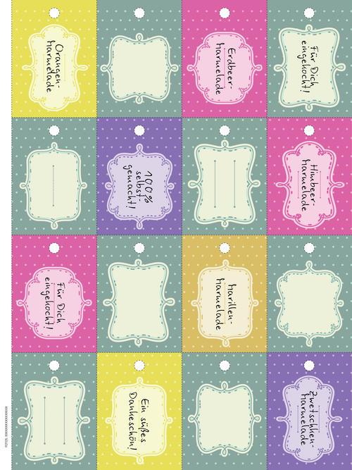 marmelade genuss in gl sern etiketten zum download woman at. Black Bedroom Furniture Sets. Home Design Ideas