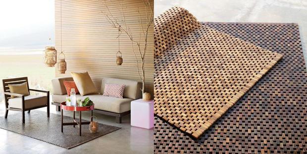 der holzteppich woman at. Black Bedroom Furniture Sets. Home Design Ideas