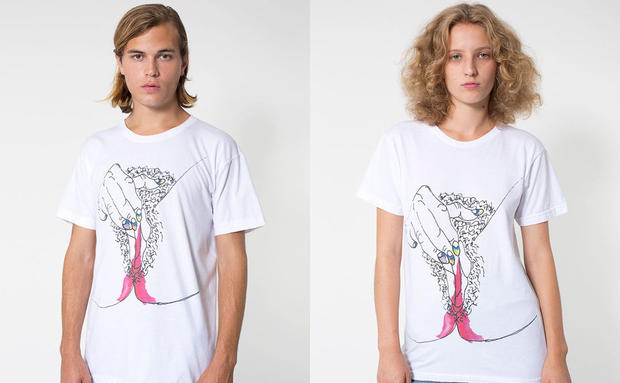 American Apparels menstruierende T-Shirts