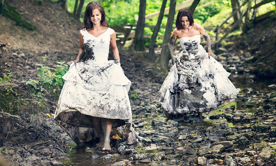 Trash Your Wedding Dress Woman At