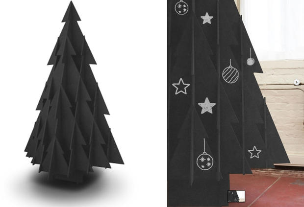 weihnachtsbaum aus karton woman at. Black Bedroom Furniture Sets. Home Design Ideas