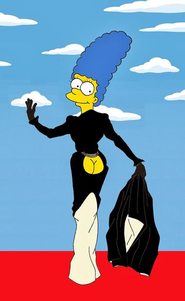 Marge Simpson als Stilikone