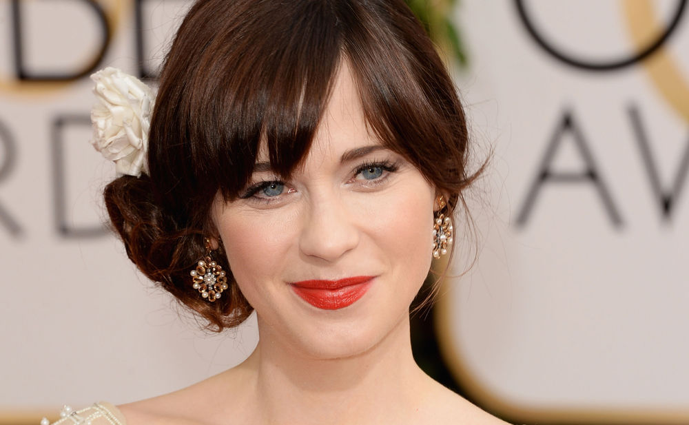 zooey deschanel woman at. Black Bedroom Furniture Sets. Home Design Ideas
