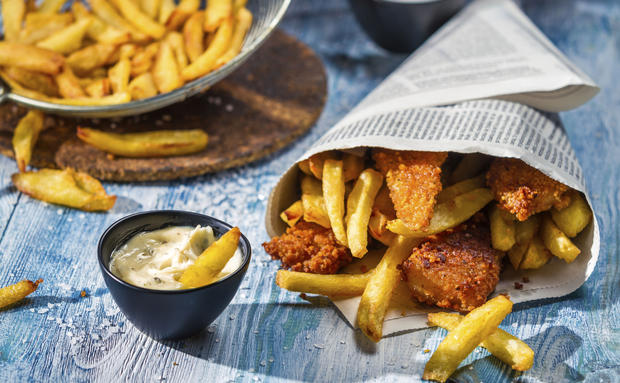 Royaler Snack: Fish and Chips