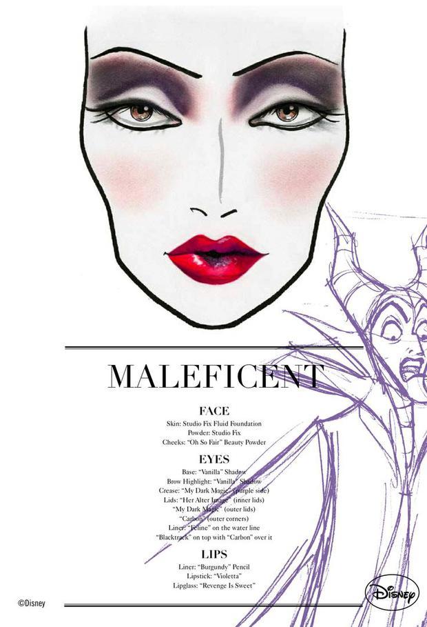 das make up von angelina aus maleficent von mac woman at. Black Bedroom Furniture Sets. Home Design Ideas