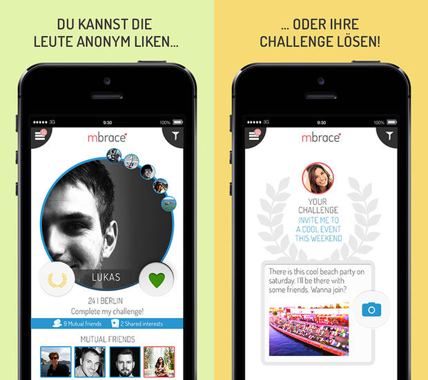 mbrace Single App - Partner finden