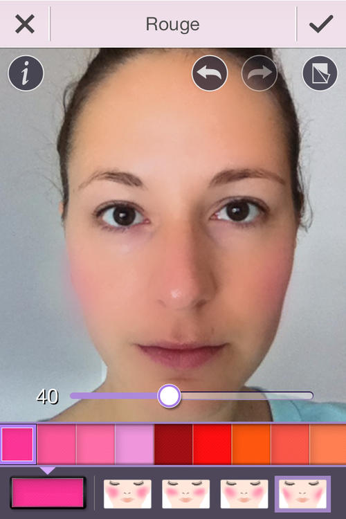 YouCam Make-up App - Retuschier-App Smartphone