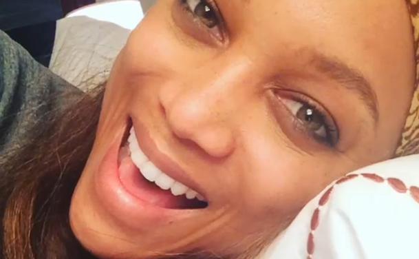 Tyra Banks rasierte den Kopf