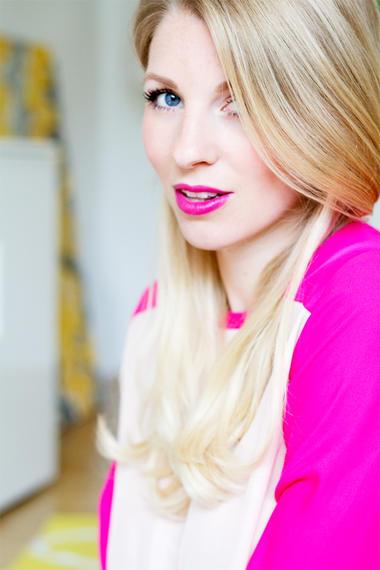 Pink Lips Woman At