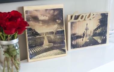 Fotos Auf Holz Drucken Woman At