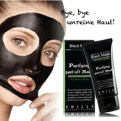 black mask gesichtsmaske im test woman at. Black Bedroom Furniture Sets. Home Design Ideas