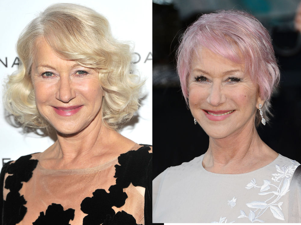 helen mirren mit knalliger haarfarbe woman at. Black Bedroom Furniture Sets. Home Design Ideas