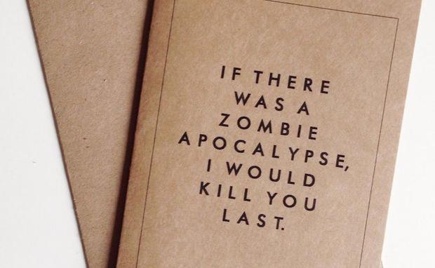 Schön Zombie Valentinskarte