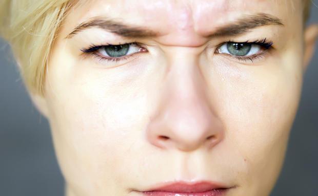 Mimikfalten Augen