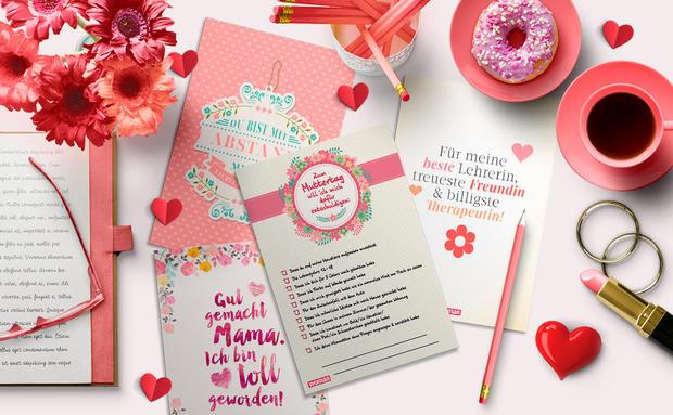 Muttertag Grußkarten printables
