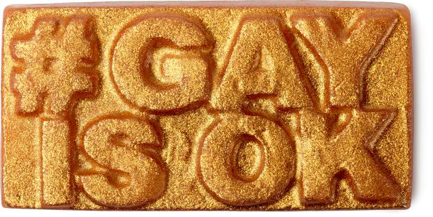 Goldene Gay is ok Seife