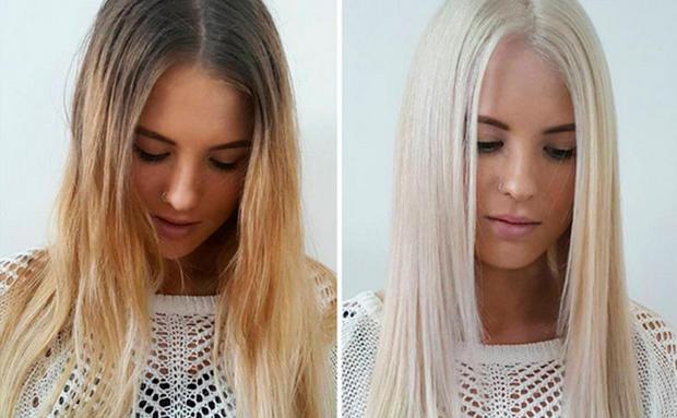 Haare aufhellen vor dem farben