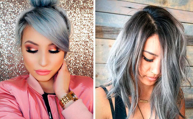 Silber farbe haare  Haare in Silber & Grau • WOMAN.AT