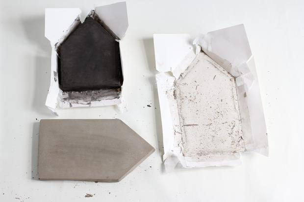 zum basteln deko h user aus beton woman at. Black Bedroom Furniture Sets. Home Design Ideas