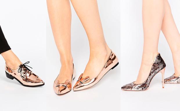 Schuhe In Metallic Woman At