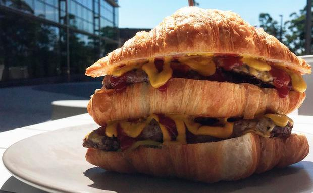 cheesy frenchy, cheeseburger croissant
