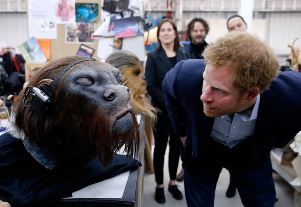 Prince William und Prince Harry am Star Wars-Set