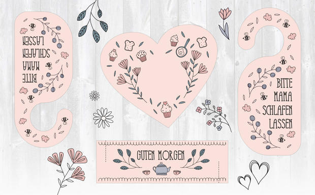 Papier-Goodie: Muttertags-Set