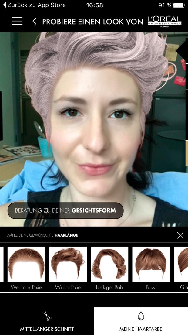 Style My Hair App Im Test Haarfarbe Und Frisuren Womanat