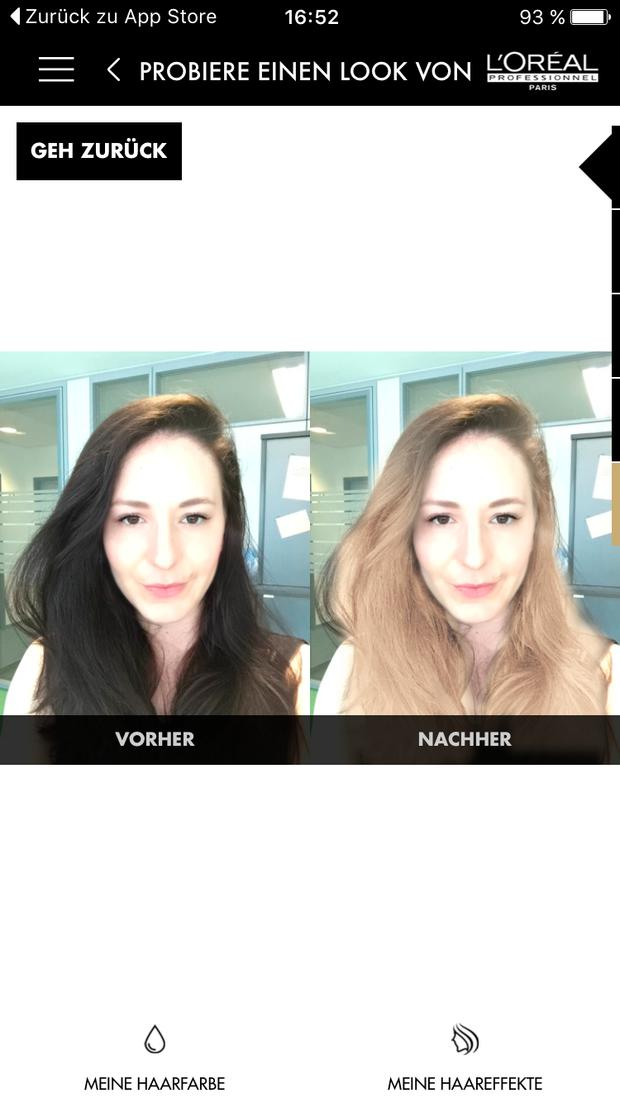 style my hair app im test - haarfarbe und frisuren • woman.at