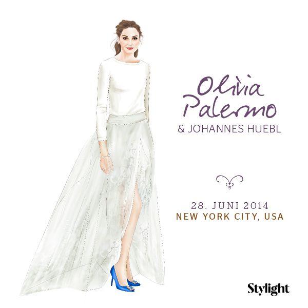 e7642c7367 Olivia Palermo   Johannes Huebl. Slide 6 von 8. Designer  Carolina Herrera