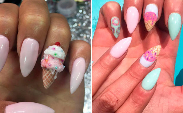 Eiscreme Nageldesign Nägel