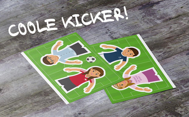 Papier-Goodie: Coole Kicker