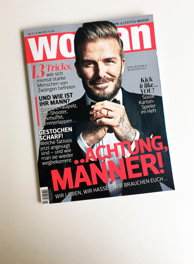 David Beckham Cover WOMAN 2016