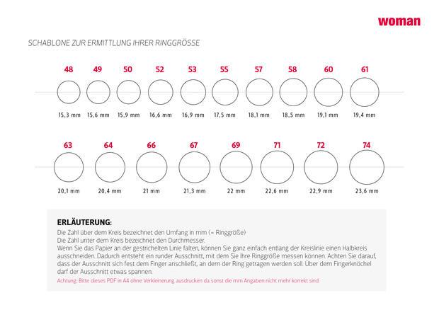 tabelle so kannst du ganz schnell die richtige ringgr e. Black Bedroom Furniture Sets. Home Design Ideas