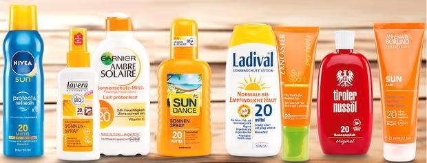 Sonnenschutzcreme Test