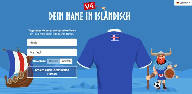 Dein Isländischer Name