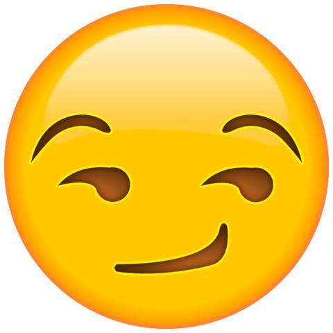 Schmunzeln Smiley