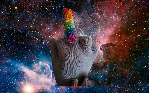 Einhorn Mittelfinger