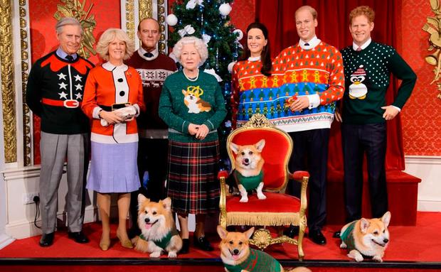 Royal Family in Christmas Jumpers
