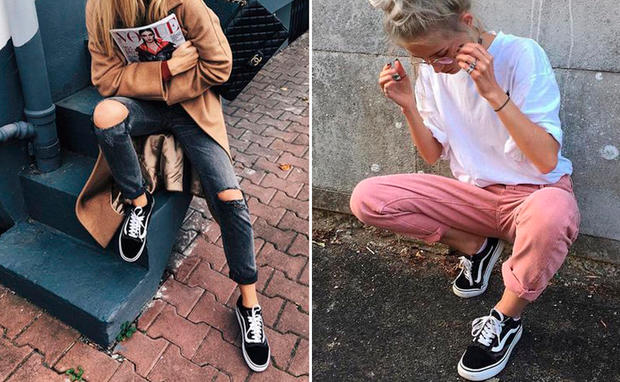 Old School Vans Styling Outfit Ideen