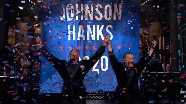 Dwayne Johnson und Tom Hanks for president!