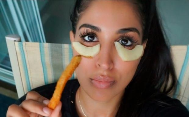 Bildergebnis für Augenringe entfernen kartoffel