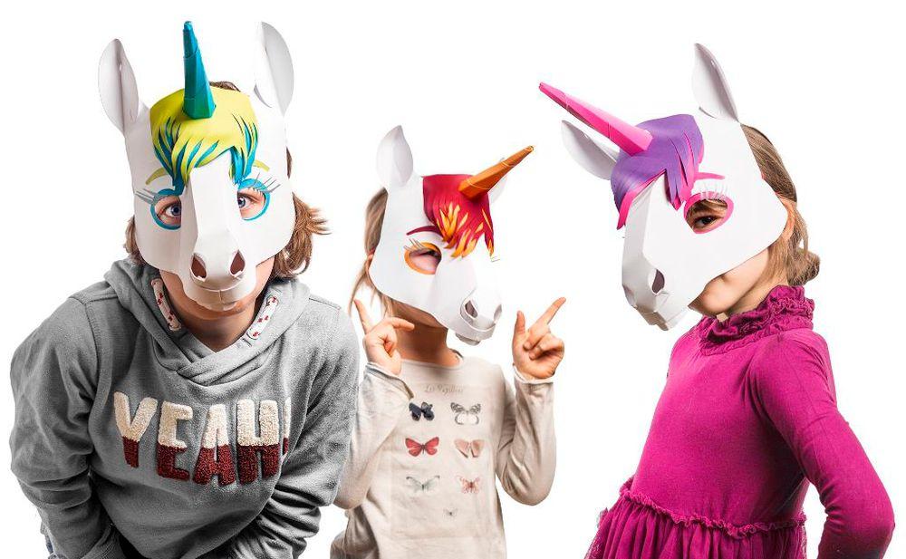 bitte diese einhorn masken brauchen wir f r halloween. Black Bedroom Furniture Sets. Home Design Ideas