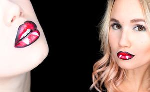 Halloween: Lippen-Make-up